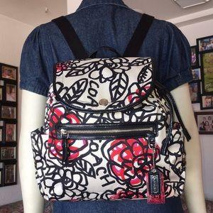 Coach Poppy Daisy Floral Graffiti Nylon Backpack